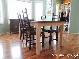 to a pretty life diy farmhouse table ikea hack