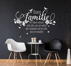 möbel wohnen wandtattoo spruch familie zitate liebe