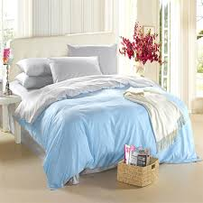 Light Blue Silver Grey Bedding Set King Size Queen Quilt Doona