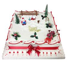 Traditional Square Christmas Cake