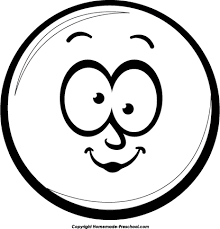 Smiley Face Black And White Laughing