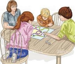 Game Night Clip Art Vector Best Images About Family Playing A Board