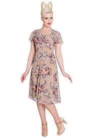Retro Tiki Tropical Hawaiian Style Dresses Hell Bunny Holly 40s 50s Vintage Tea Party