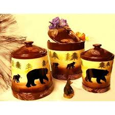 Bear Kitchen Canisters