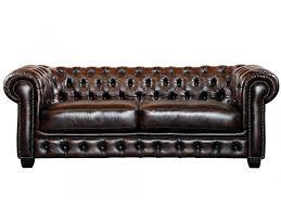 canape chesterfield cuir canapé et fauteuil chesterfield 100 cuir de buffle brenton