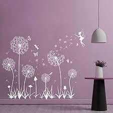 pusteblume fensterbilder fensteraufkleber selbstklebend wandtattoo wandsticker löwenzahn schmetterlinge pflanzen deko für fenster wohnzimmer