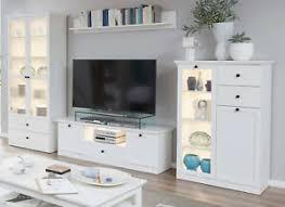 Anbauwand Wohnzimmer Mã Bel Wohnwand In Weiß Landhaus Wohnzimmer Schrankwand Möbel 330