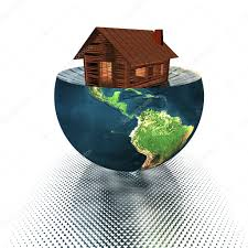 100 House Earth Model On The Half Of The Earth Stock Photo Alperium 1146784