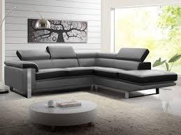 canape cuir gris canapé d angle en cuir de vachette 4 coloris mystique