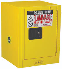 Flammable Liquid Storage Cabinet Grounding by Airgas Jtr890400 Justrite 4 Gallon Yellow Sure Grip Ex 18