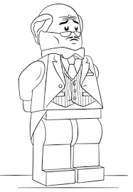 Click To See Printable Version Of Lego Alfred Pennyworth Coloring Page
