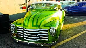 Nice Paint Job On A Custom Green Truck At Mooneyes   Hot Rod Resource 1995 F150 4x4 Totally Bed Liner Paint Job 4 Lift Custom Resto Mod Work Custom Paint Jobs For Cars Services Motsport Concepts Truck Paints 2017 Grasscloth Wallpaper Gmc Truck Stock Photo Image Of Work Pickup Vehicle 44293068 My With The Nissan Titan Forum Auto And Color Matching Larrys Body 98 Chevy Google Search Places To Visit Pewter Titanium Harley Job Pearls Pigment Mitsubishi Customized Mini Protection Film Painted Skull Car Anniversary Paso Robles Classic