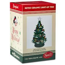 Disney Parks Retro Ceramic Light Up Holiday Christmas Tree New With Box