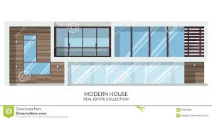 100 Modern Summer House Real Estate Sign In Flat Style Vector