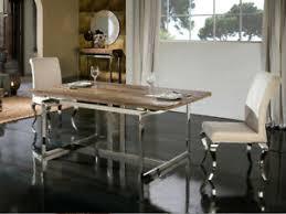 details zu esstisch tisch designertisch massivholz luxus edelstahl milenia küche esszimmer