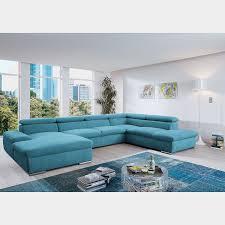 loftscape wohnlandschaft glenaire i hellblau strukturstoff mit schlaffunktion