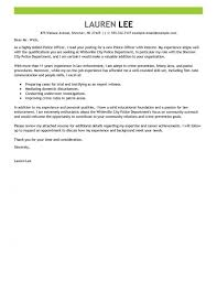 Leading Professional Police Officer Cover Letter Examples