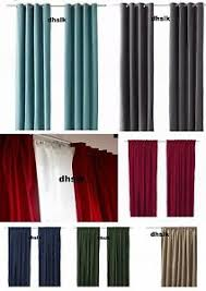 ikea sanela velvet curtains drapes 2 panels all colors dramatic