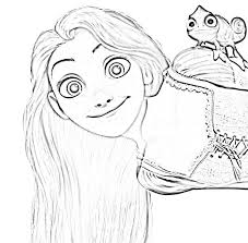 Printable Rapunzel Coloring Pages 3419 Tone