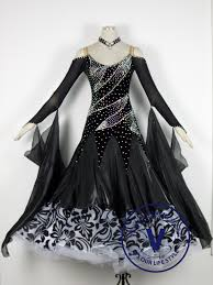 black competition ballroom dance dress venus dancewear your