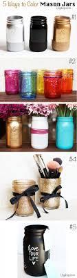5 Ways To Color Mason Jars Diy Craft Crafts Home Decor Easy Ideas Crafty Decorations How