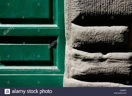 green door property building in italy Stock Royalty Free