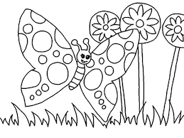 Beautiful Butterfly In The Garden Coloring Pages For Kids Printable Gardening