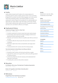 Translator Resume Templates 2019 (Free Download) · Resume.io Freelance Translator Resume Samples And Templates Visualcv Blog Ingrid French Management Scholarship Template Complete Guide 20 Examples French Example Fresh Translate Cv From English To Hostess Sample Expert Writing Tips Genius Curriculum Vitae Jeanmarc Imele 15 Rumes Center For Career Professional Development Quackenbush Resume As A Second Or Foreign Language Formal Letter Format Layout Tutor Cover Letter Schgen Visa Application The French Prmie Cv Vs American Rsum Wikipedia