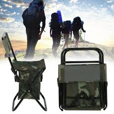 Foldable Camping Fishing Chair Carry Seat With Storage Bag