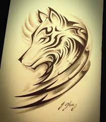 Wolf Tribal Tattoo Woman Feminine