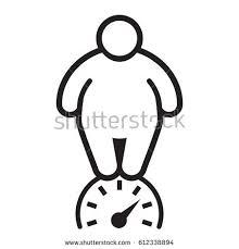 verweight person Fat man Vector illustration