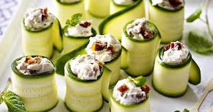 courgette and goat s cheese canapés recipesplus