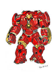 Hulkbuster Drawing At GetDrawingscom Free For Personal Use