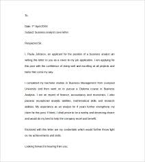 Cover Letter Business Analyst Pdf