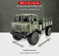 100 Rc Military Trucks WPL B24 116 4WD 24G DIY Mini OffRoad RC Truck Car