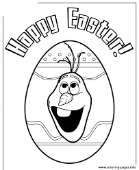 Olaf Head Inside Easter Egg Colouring Page Coloring Pages Printable