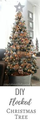 Simply Beautiful By Angela DIY Flocked Christmas Tree