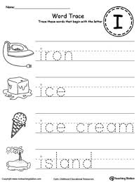 Trace Words That Begin With Letter Sound I