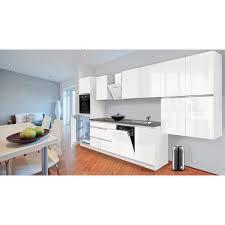 respekta küchenzeile ohne e geräte 380 cm grifflos weiß hochglanz