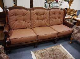 Ethan Allen Bennett Sofa Sleeper by Furniture Ethan Allen Leather Furniture Vintage Ethan Allen