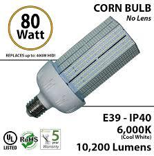 80 watt led corn light bulb 350w halogen hps replacement 6000k