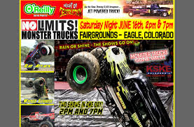 NO LIMITS MONSTER TRUCK SHOW | Tickets On Sale - KSKE Ski Country Money Pit 20 Going Huge With Matts Green Colorado 2017 Monster Truck Winter Nationals The Veteran No Limits Tour Montrose Co Monsters Monthly Atlanta Motorama To Reunite 12 Generations Of Bigfoot Mons 1 Bob Chandler Godfather Trucksrmr Play Dirt Rally Matters Toys Destruction Coming Springs Grave Digger Gets Traxxas As A New Sponsor Toughest Trucks Tickets Turbulence Home Facebook