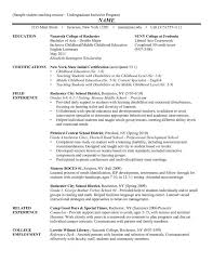 A Resume Nazareth College Template First Year Teacher Examples Samples Teaching Download Students How