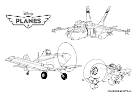 Disney Planes Bulldog Dusty Coloring Pages