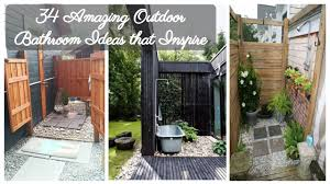34 Amazing And Inspiring Outdoor Bathroom Ideas - Decoraiso.com Outdoor Bathroom Design Ideas8 Roomy Decorative 23 Garage Enclosure Ideas Home 34 Amazing And Inspiring The Restaurant 25 That Impress And Inspire Digs Bamboo Flooring Unique Best Grey 75 My Inspiration Rustic Pool Designs Hunting Lodge Indoor Themed Diy Wonderful Doors Tent For Rental 55 Beautiful Designbump Ide Deco Wc Inspir Decoration Moderne Beau New 35 Your Plus