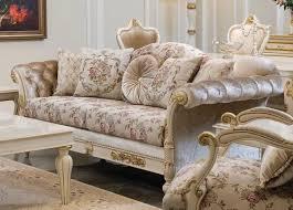 casa padrino luxus barock sofa creme rosa weiß gold 228 x 90 x h 100 cm edles wohnzimmer sofa mit blumenmuster und dekorativen kissen