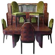 8 Art Deco Dining Room Set By Mercier Freres France 1920s