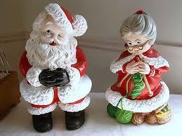 Vintage Atlantic Mold Ceramic Christmas Tree by Vintage Atlantic Mold Mr U0026 Mrs Santa Claus Figure Set Ceramic