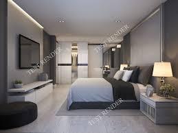 100 Modern Luxury Bedroom 3d Modern Luxury Modern Bedroom Suite In Hotel With Wardrobe 3D Model