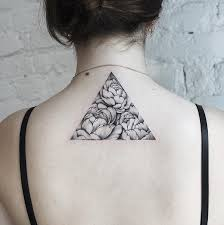 35 Cute Triangle Glyph Tattoos